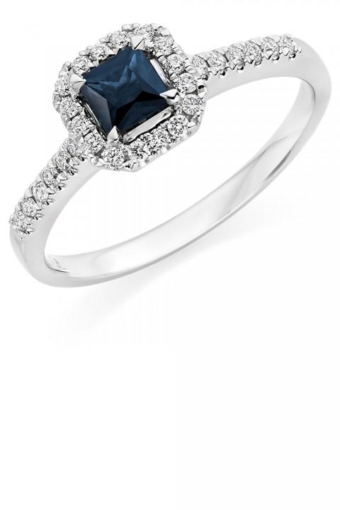 Sapphire And Diamond Engagement Ring Beaverbrooks