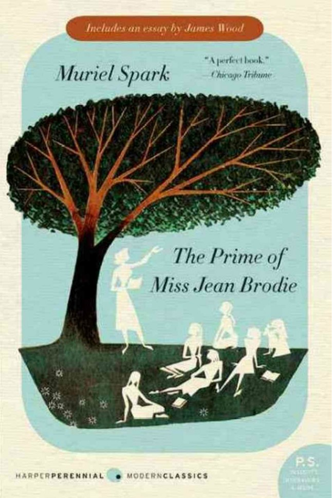 What is the narrative technique used in the novel The Prime of Miss Jean Brodie?