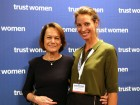 Christy Turlington Burns and Livia Firth Speak Up For Women's Rights At The Trust Women Conference