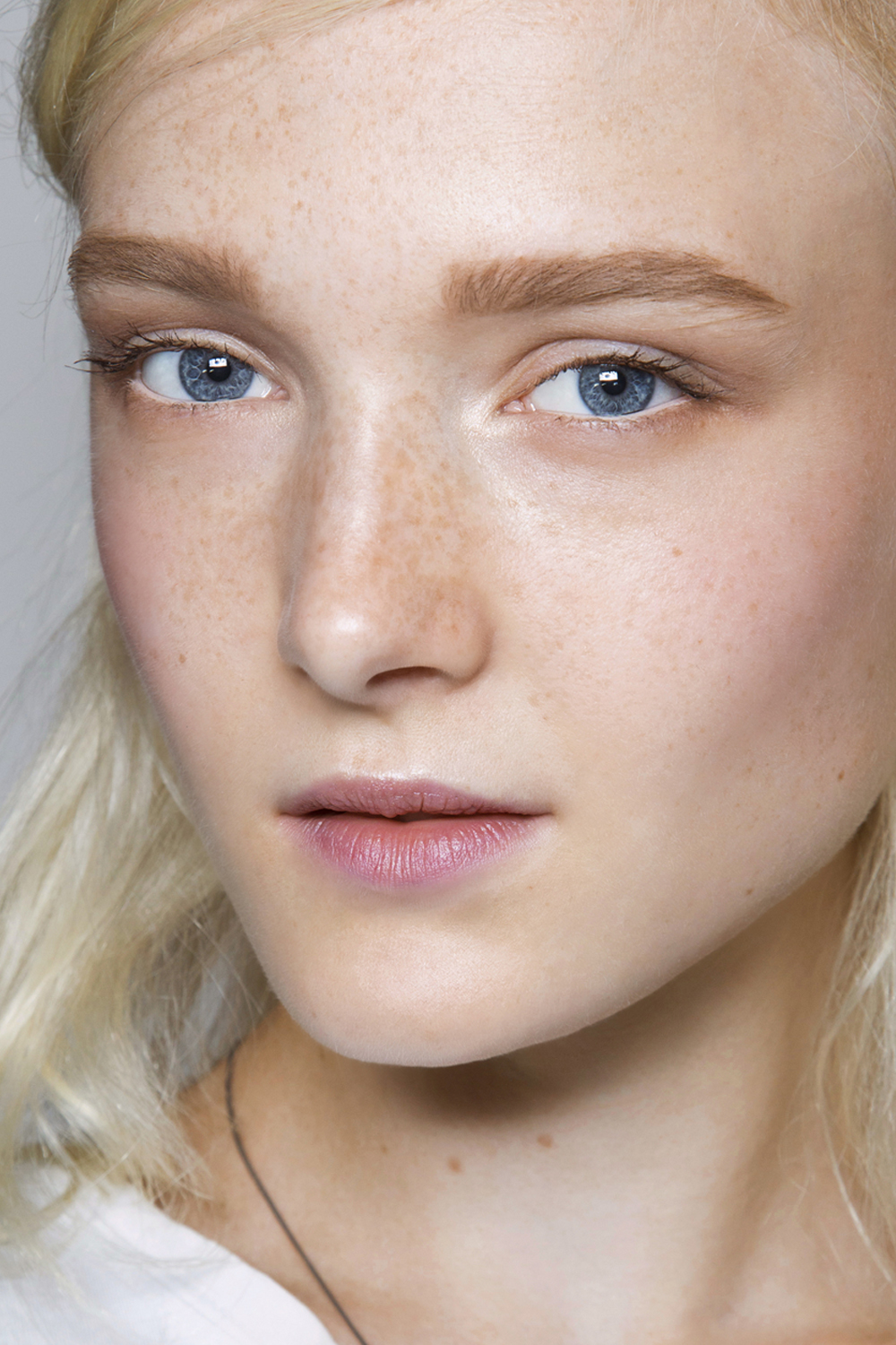 Pale Beauty Portrait Of Blond Woman Stock Image: DriverLayer Search Engine