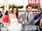 Eva Longoria got married in Mexico this weekend wearing a dress designed by BFF Victoria Beckham